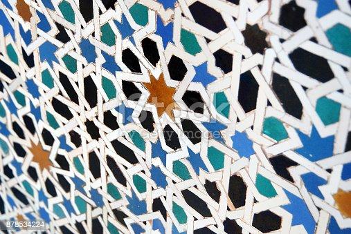 1034225626 istock photo Moorish mosaic with perspective 878534224
