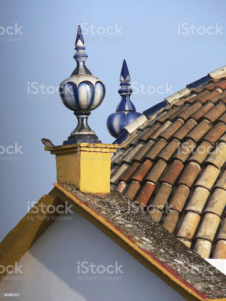 Moorish roof detail royalty-free stock photo