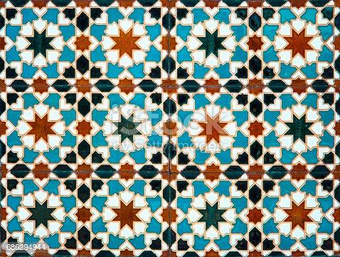 A moorish style mosaic with tiles