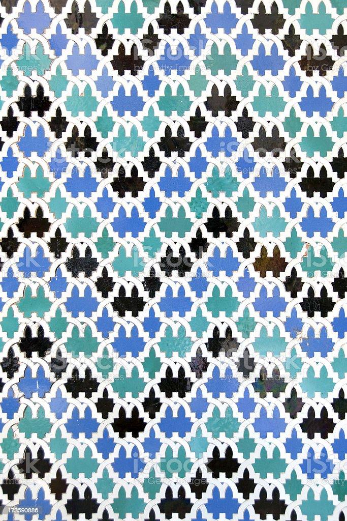 Moorish tiles royalty-free stock photo