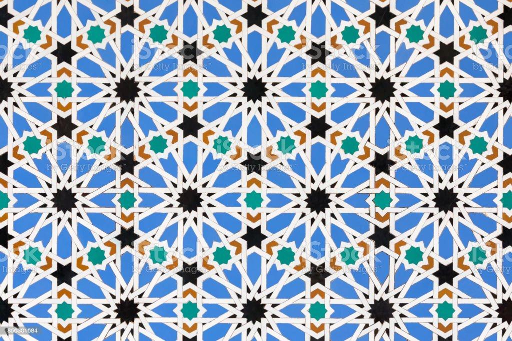 Moorish wall tile pattern stock photo