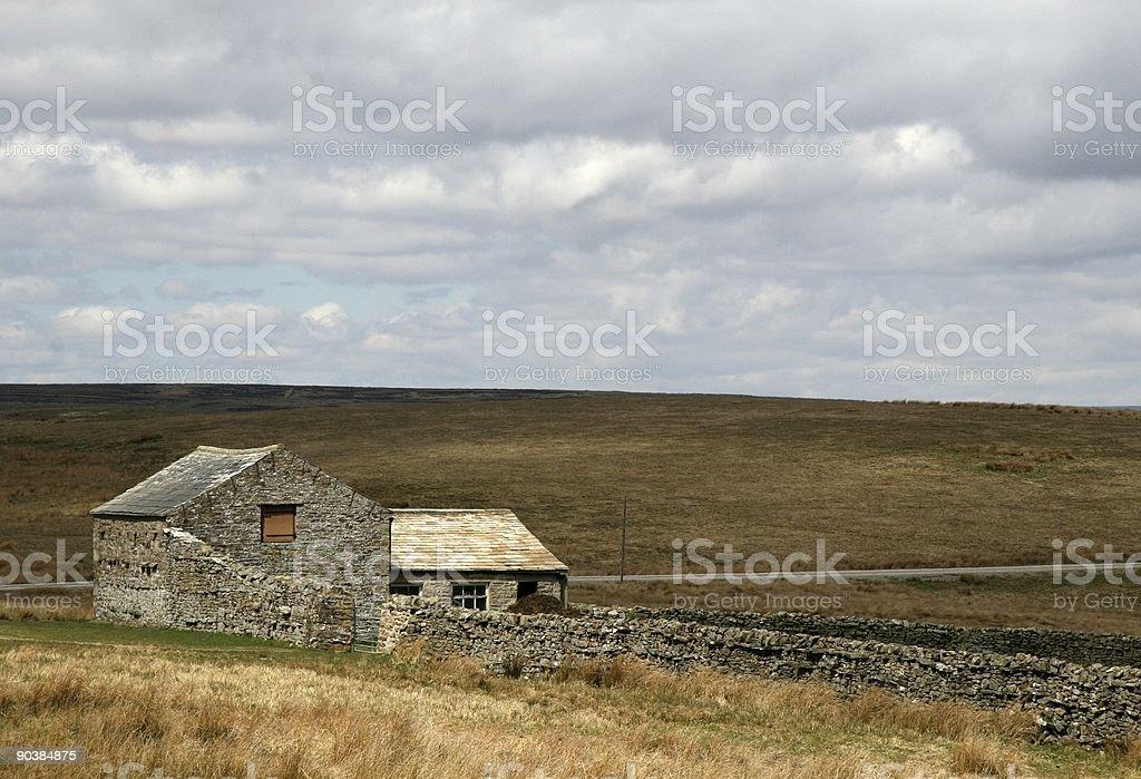 Moorland Barn royalty-free stock photo