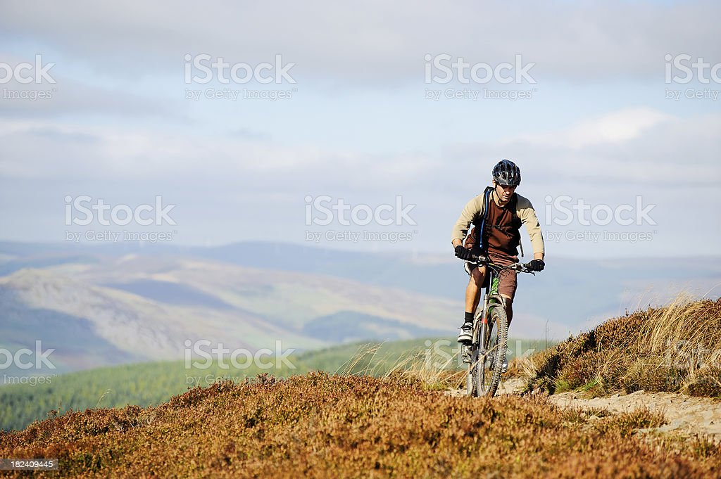 Moorland cycling royalty-free stock photo