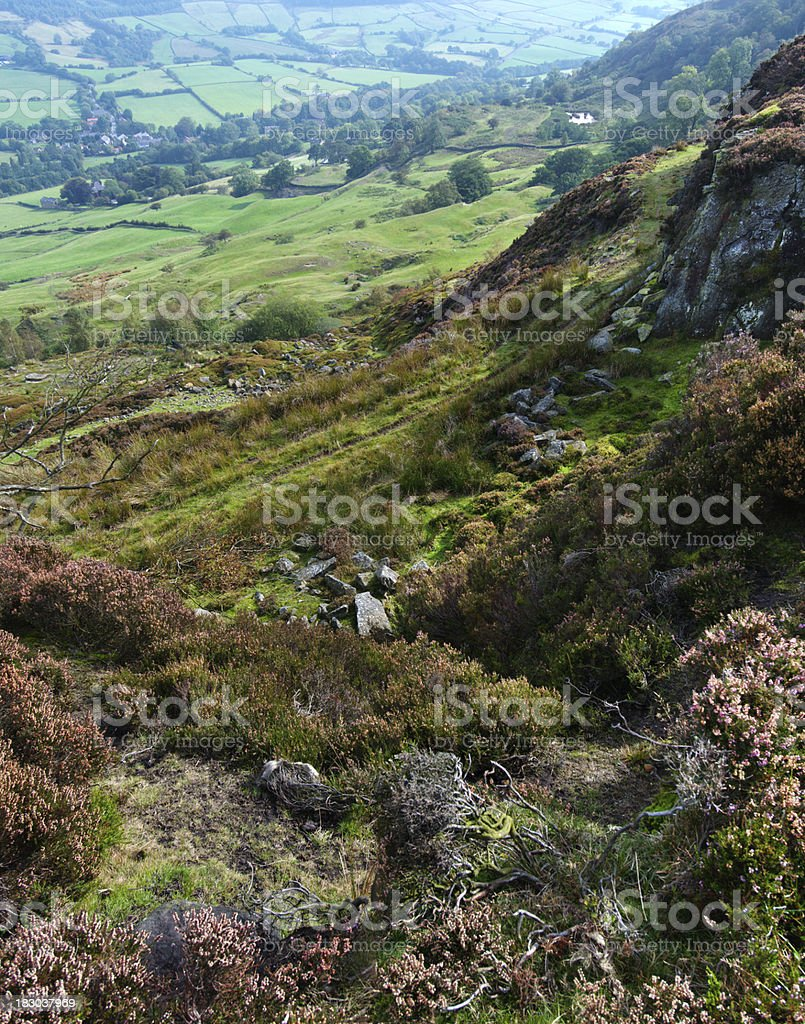 Moorland Panorama in North Yorkshire, England royalty-free stock photo