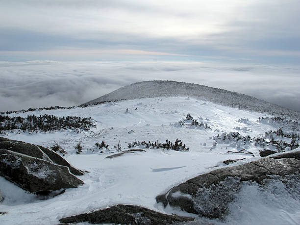 Moosilauke Summit on a Winter Day with an Undercast stock photo
