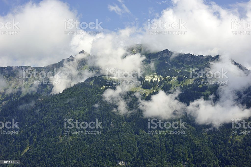 Moountain View from Interlaken royalty-free stock photo