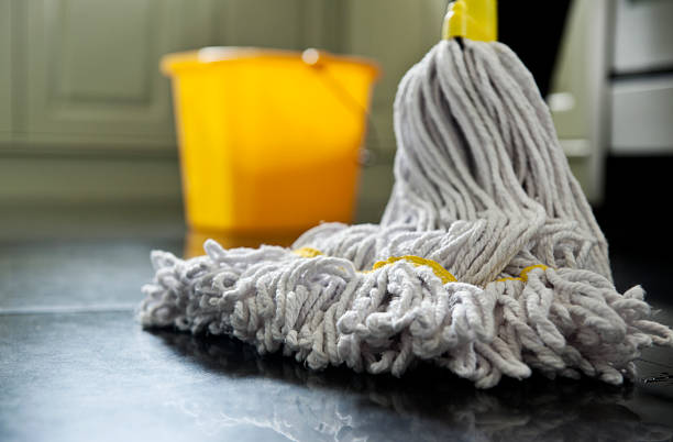 mop and bucket close up photograph of a mop and bucket with shallow depth of field mop stock pictures, royalty-free photos & images