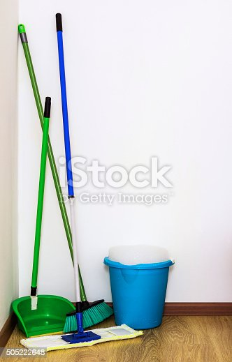 473158422 istock photo Mop, broom and bucket cleaning 505222648