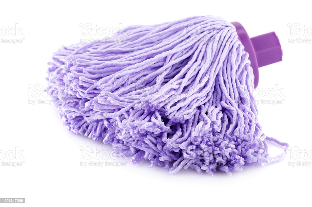 Mop on white stock photo