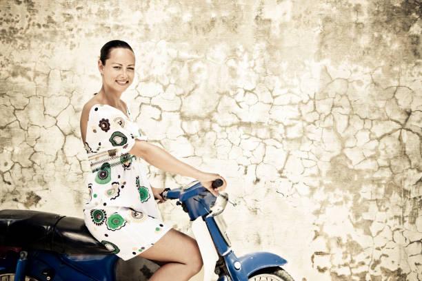 Moped Beauty stock photo