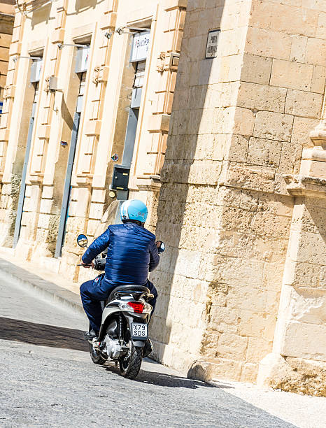 Moped in Noto stock photo