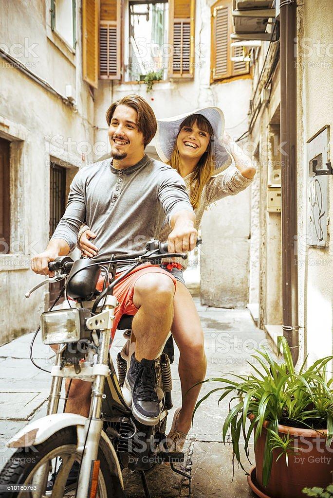 Moped Ride stock photo