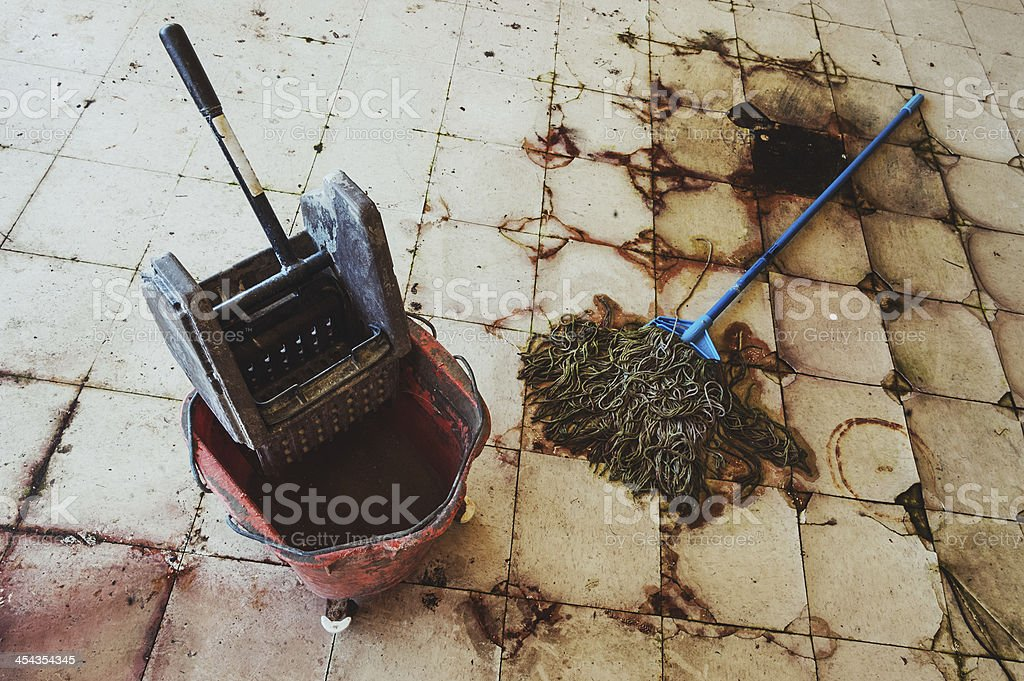 Mopping the Filth stock photo