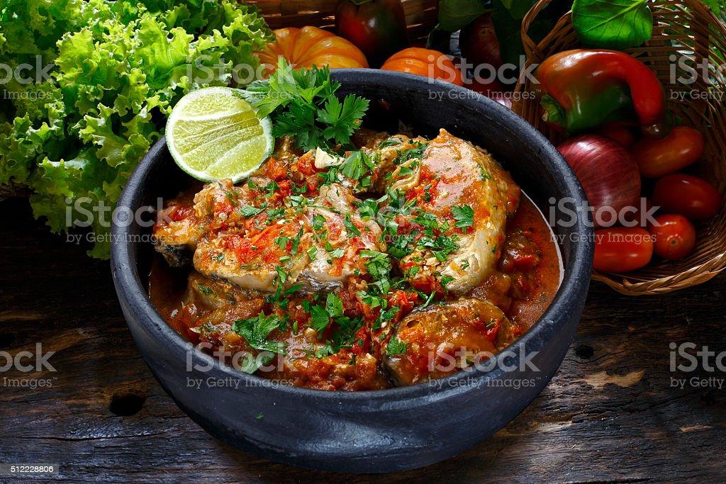 Moqueca, Fish stew stock photo