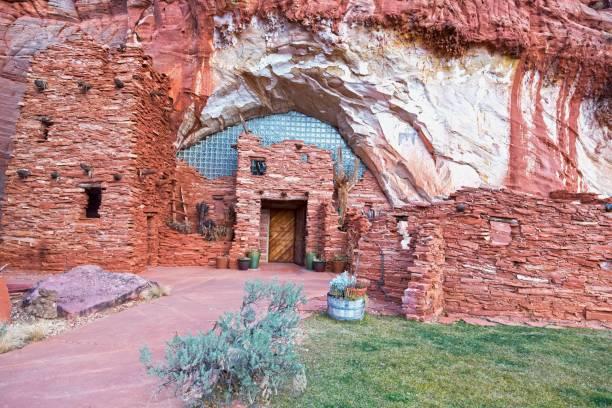 moqui cave anasazi hopi tribe food shelter near kanab utah - hopi stock photos and pictures