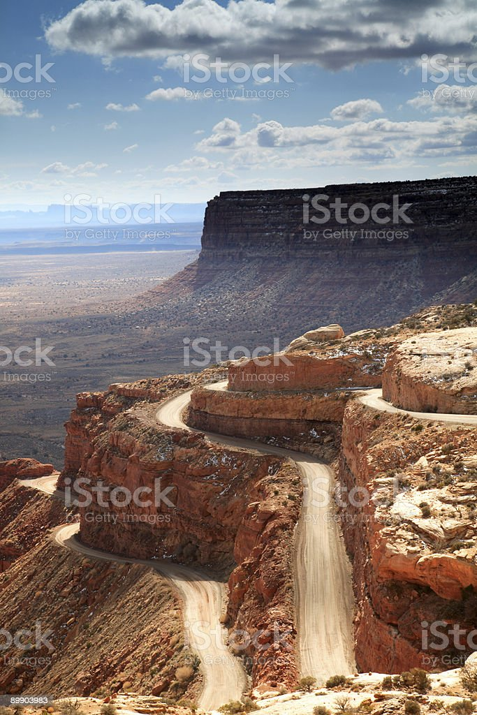 Moqui Dugway, Utah royalty-free stock photo