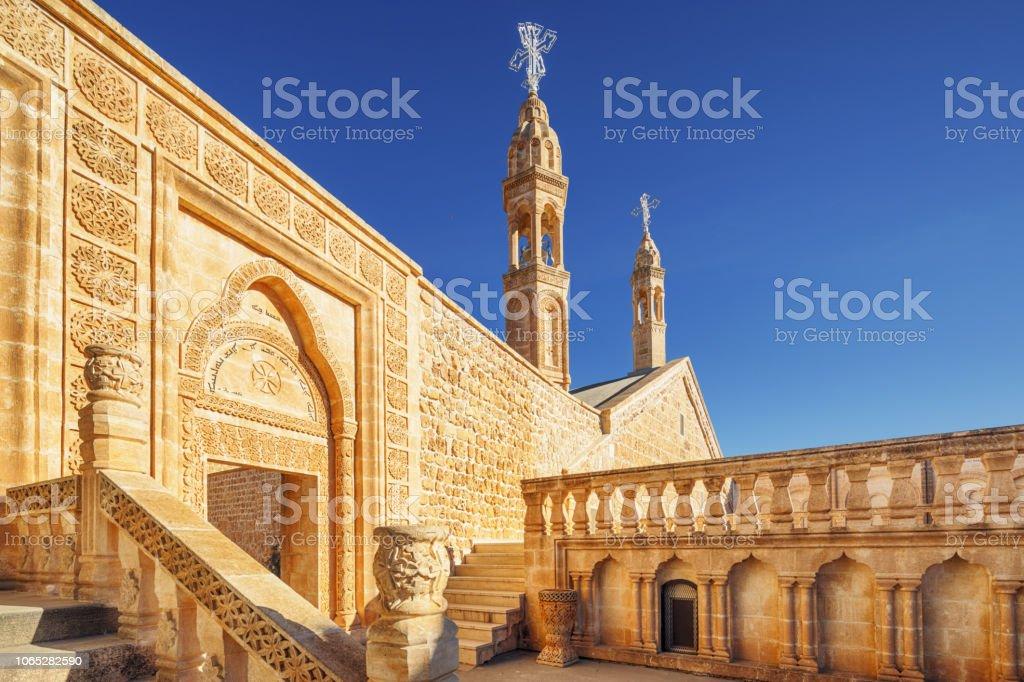 Mor Gabriel Church, Midyat, Turkey stock photo
