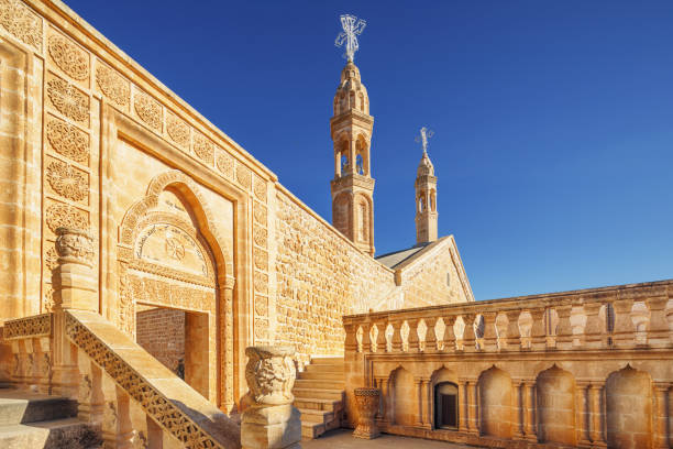 Mor Gabriel Church, Midyat, Turkey Dayro d-Mor Gabriel, also known as Deyrulumur, is the oldest surviving Syriac Orthodox monastery in the world. anatolia stock pictures, royalty-free photos & images