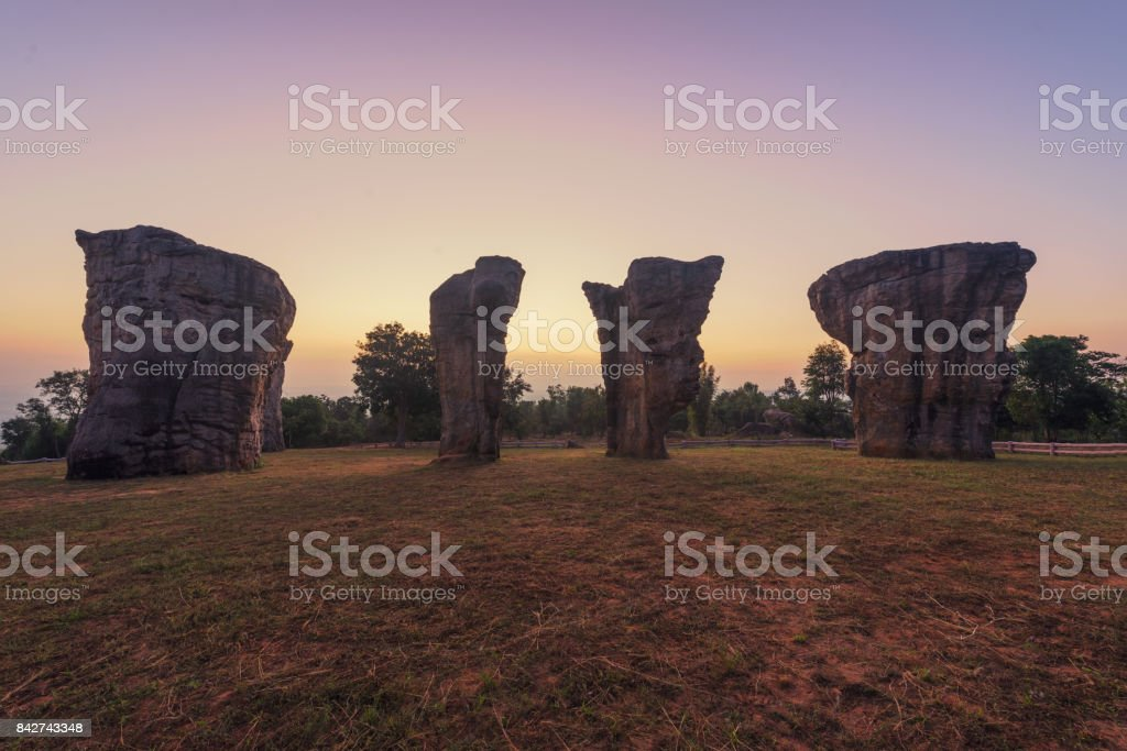 Mor Hin Khao Rocks in Chaiyaphum district, Thailand stock photo