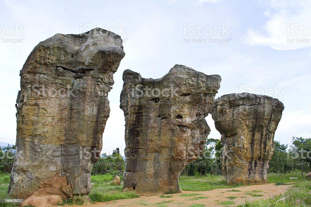 Mor Hin Khao, Stone Henge of Thailand, Chaiyaphum royalty-free stock photo