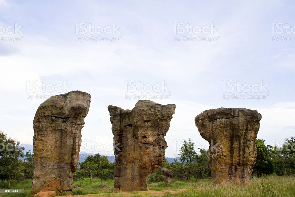 Mor Hin Khao, Stone Henge of Thailand royalty-free stock photo