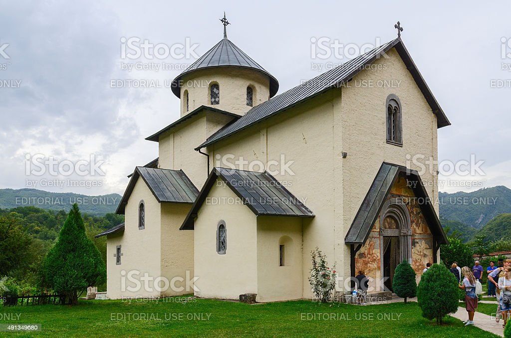 Moraca Monastery, Church of the Assumption of Our Lady, Montenegro stock photo