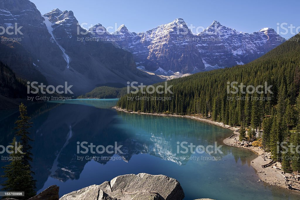 Moraine Lake, Alberta, Canada royalty-free stock photo