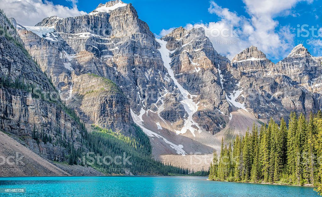 Moraine Lake and Ten Peaks stock photo