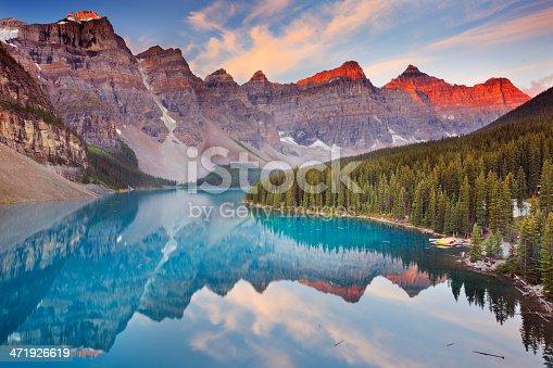 istock Moraine Lake at sunrise, Banff National Park, Canada 471926619