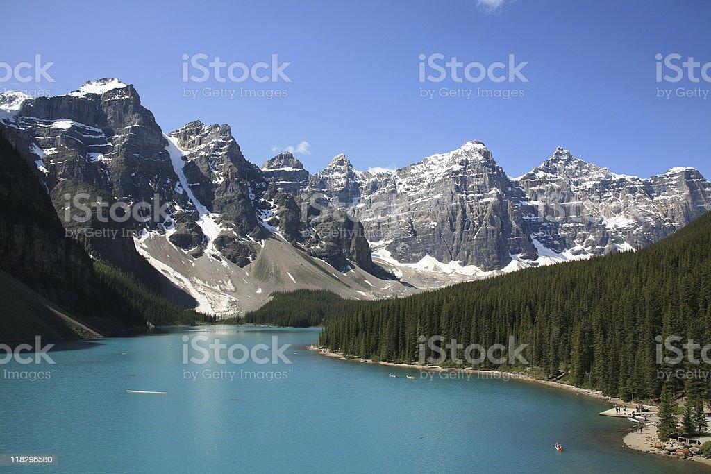 Moraine Lake - Banff National Park, Alberta, Canada royalty-free stock photo