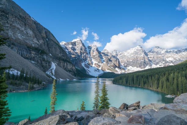 Moraine lake, Banff national park, Canada stock photo