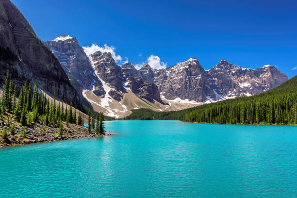 Moraine Lake, Banff National Park, Canada Valley of the Ten Peaks With Moraine Lake In Banff NP, Canada valley of the ten peaks stock pictures, royalty-free photos & images