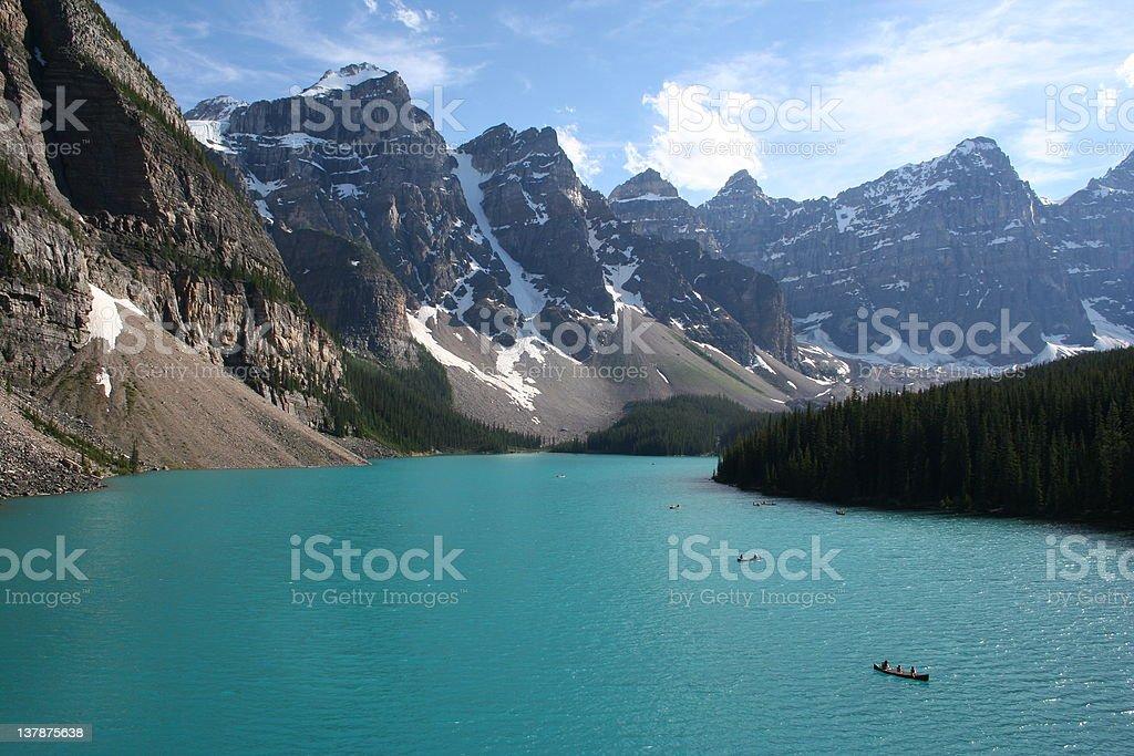 Moraine Lake, Banff National Park royalty-free stock photo