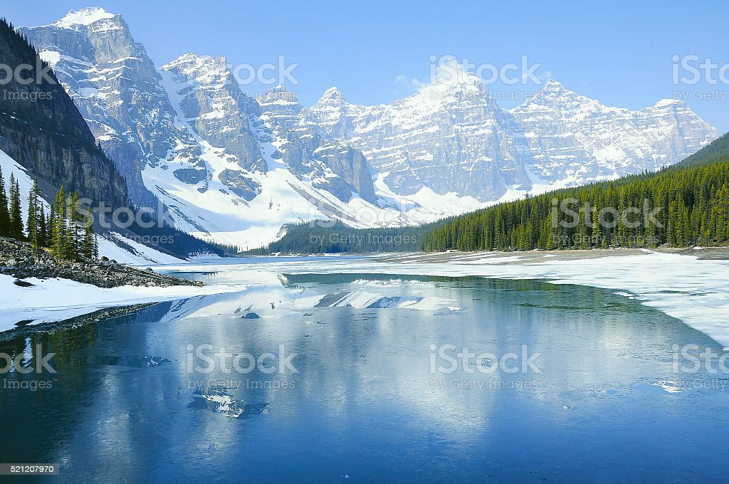 Moraine lake. Banff National park. stock photo