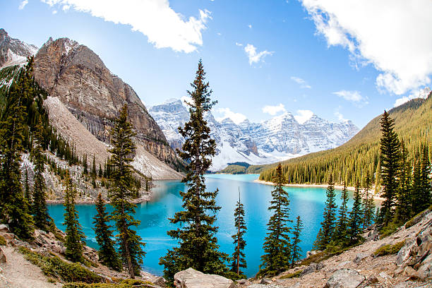 Moraine Lake, Canadian Rockies see others valley of the ten peaks stock pictures, royalty-free photos & images