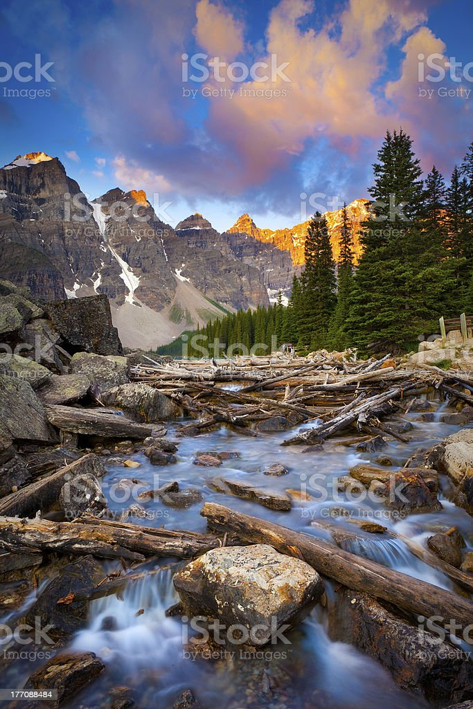 Moraine Lake Creek stock photo