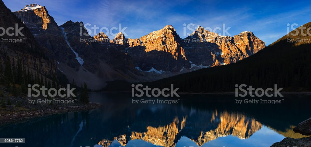 Moraine Lake Early in the Morning stock photo