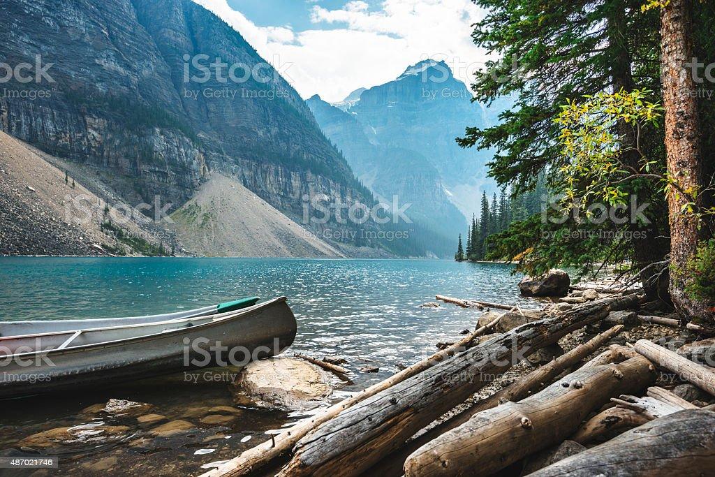 Moraine Lake in Banff National Park - Canada Moraine Lake in Banff National Park - Canada 2015 Stock Photo