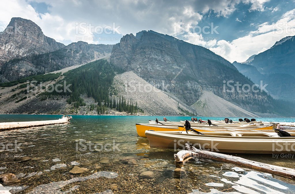 Moraine Lake in Banff National Park - Canada stock photo