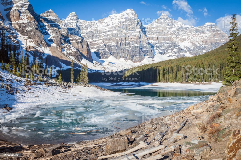 Moraine Lake In Banff National Park Stock Photo Download