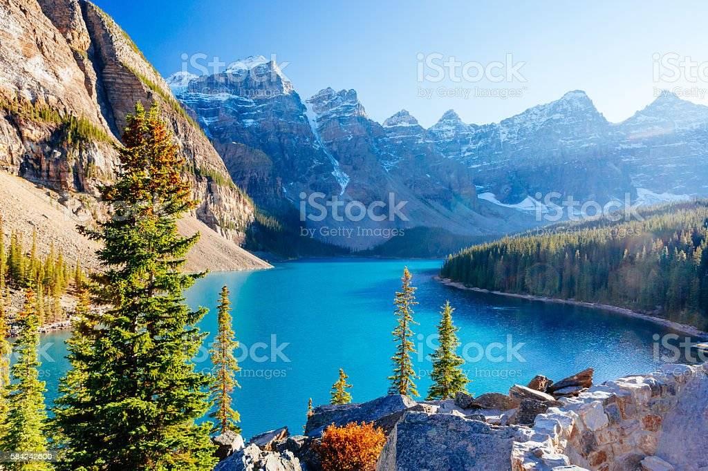 Moraine Lake Lake Louise Banff National Park Alberta Canada Stock Photo Download Image Now