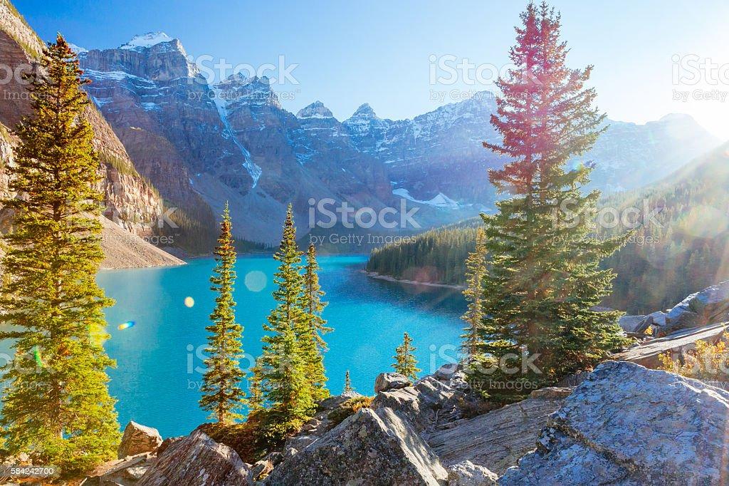 Moraine Lake Lake Louise Banff National Park Alberta Canada Stock Photo Download Image Now