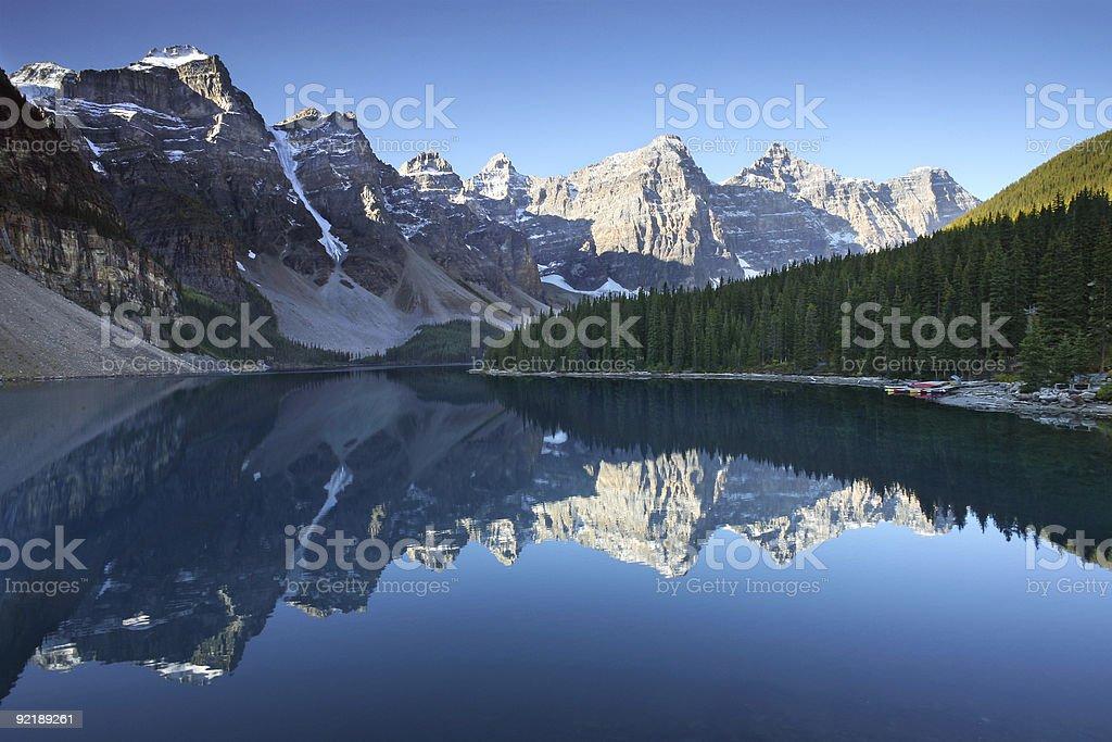 Moraine Lake Morning stock photo