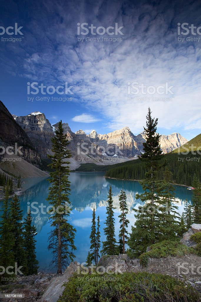 Moraine Lake royalty-free stock photo