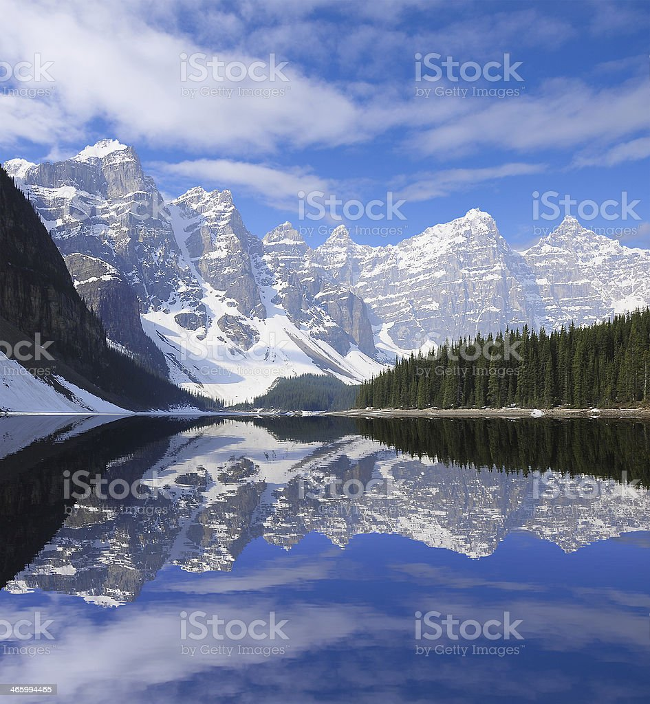 Moraine lake. royalty-free stock photo
