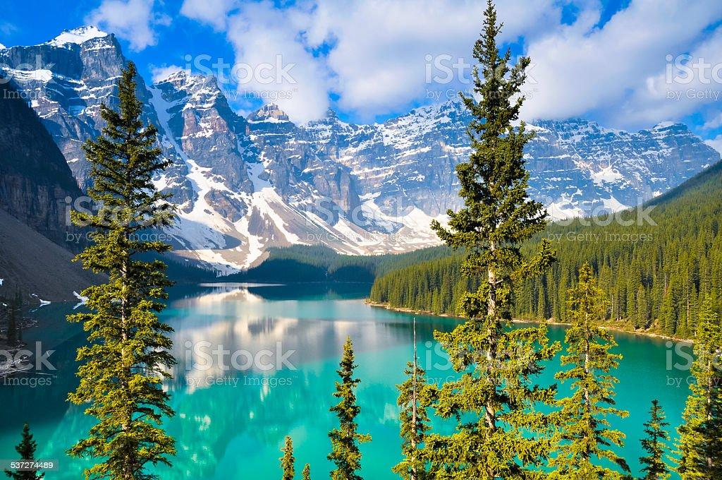 Moraine Lake, Rocky Mountains, Canada foto