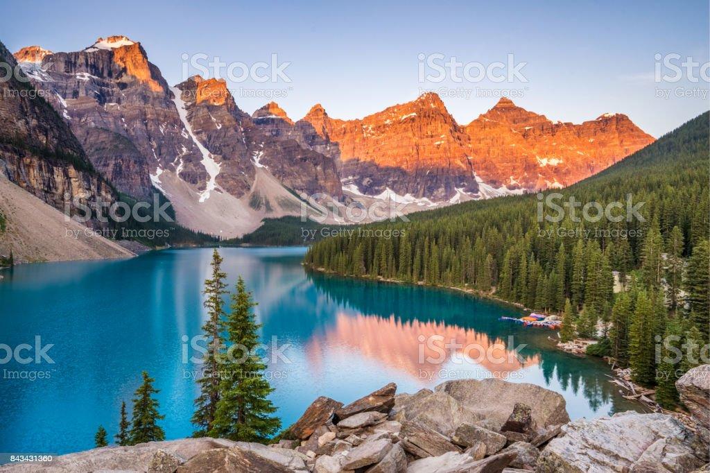 Moraine Lake Sunrise royalty-free stock photo