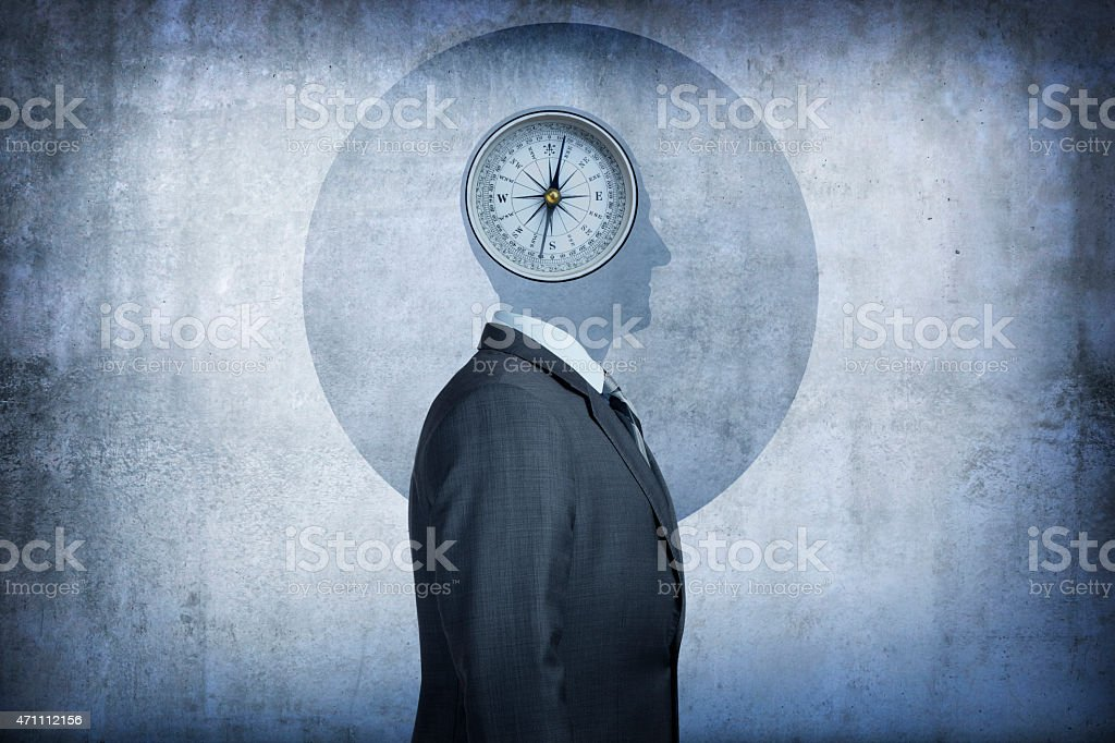Moral compass concept stock photo