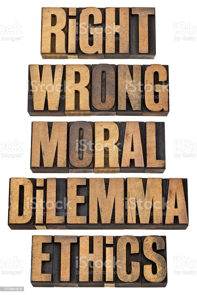 moral dilemma concept royalty-free stock photo