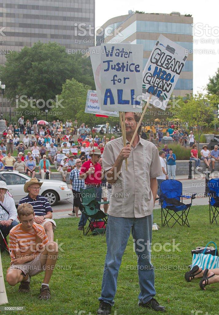 Moral Moday Fracking Protest stock photo